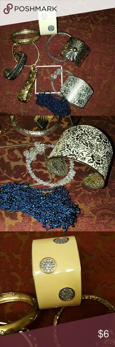 BUNDLE OF BANGLES/BRACELETS 11 piece fun bracelets and bangles.  Gold and silver tone.  All in great pre loved condition.  Bundle and save!?? Jewelry Bracelets