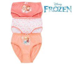 3 Slip Frozen Principesse Elsa Mutande Disney N
