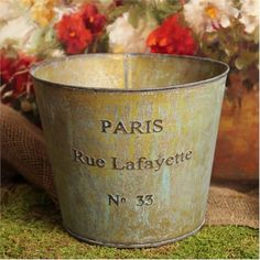 Paris Verdigris Bucket