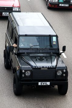 ♂ It's a man's world Black land rover