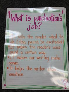 Mrs. Terhune's First Grade Site!: Anchor Charts