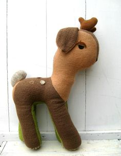 Large Vintage Plush Fawn by littlevintageviolet on Etsy, $15.00