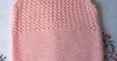 "PETO DE TIRANTES DE HILO ROSA DE 0 -3 MESES          Material   Hilo rosa bebé 100% acrílico Lanas STOP ""Perlé-5"" (color 36, tintada 01118)... Baby Knitting, Body, Knitting Patterns, Knit Crochet, Eminem, Women, Fashion, Baby On The Way, Knitted Baby Clothes"