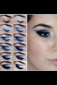 Niebieski makijaż dla niebieskich oczu