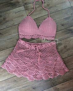 Crochet Shorts Pattern, Crochet Blouse, Crochet Bikini, Pull Crochet, Crochet Top, Crochet Summer, Crochet Skirts, Crochet Clothes, Crochet Lingerie
