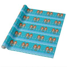 Twin Mermaids Wrapping Paper