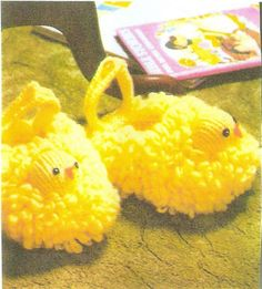 Baby ChildsToddlers Slippers Knitting Pattern Baby by dianeh5091