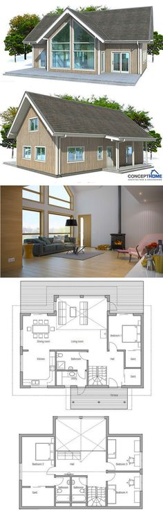 Architecture, Small Home Plan, Small House Plans, House plan, Home plans Best House Plans, Small House Plans, Architecture Renovation, Architecture Design, Architecture Portfolio, Floor Layout, Open Layout, House Blueprints, Small House Design