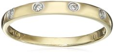 10k Yellow Gold Diamond Accent Band *** You can get more details here : trend jewelry 2016