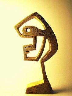 """sculpture bois chantourné """"rdv chez le dentiste"""""""