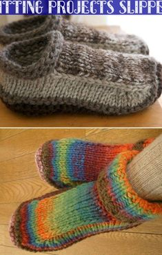 Unisex Slippers Crochet And Knitted Free Patterns The Whoot & unisex-hausschuhe häkeln und gestrickt kostenlose muster the whoot & chaussons unisexe crochet et modèles gratuits tricotés le whoot Loom Knitting, Knitting Socks, Knitting Patterns Free, Free Knitting, Knitting Tutorials, Stitch Patterns, Knit Slippers Free Pattern, Crochet Socks, Crochet Granny