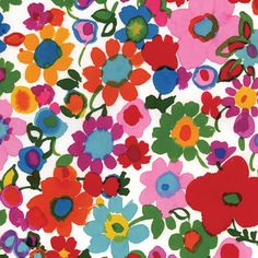 tissu watercolor flowers bright / c'est dimanche