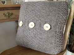 Cable Knit Cushion Cover - Folksy
