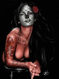 Dia De Los Muertos 4 Painting  -Pete Tapang