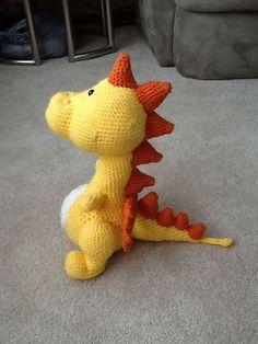 Ravelry: Big Spike Dragon, free crochet pattern by Trudy Lindsley, amigurumi, stuffed toy, #haken, gratis patroon (Engels), draak, knuffel, speelgoed, #haakpatroon
