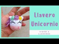 Keychain - Llavero de Unicornio a crochet / Aprende a tejer tu llavero de unicornio - YouTube
