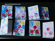 Faire une carte d'invitation pour une fête d'anniversaire d'enfant - gravure - YouTube