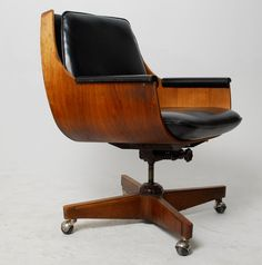 Heywood Wakefield Walnut Bent Plywood Chair