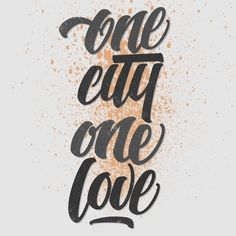 One city, one love in Typography