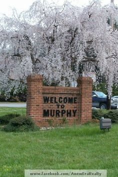 CHERRY TREE  WELCOME TO  MURPHY, NC