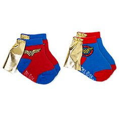Superhero Infant Caped Socks 2-Pack http://www.thinkgeek.com/product/1abf/