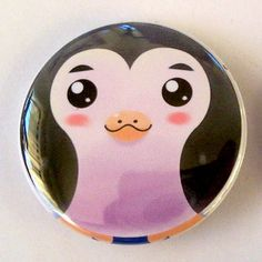Penguin+Pinback+Button+by+TootsieCool+on+Etsy,+$1.50