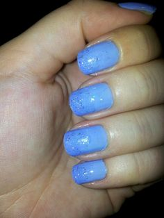 Blue glitter gradient. Essie Bikini so Teeny and OPI Last Friday Night