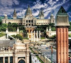 Placa De Espanya, the National Museum in Barcelona. Spain | TOP 10 Free Things to See and Do in Barcelona