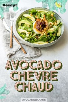 Avocado-Chevre Chaud Salat - AvocadoBanane Meat Recipes, Whole Food Recipes, Salad Recipes, Easy Salads, Healthy Options, Fruits And Vegetables, Clean Eating Recipes, Food Inspiration, Vegetarian