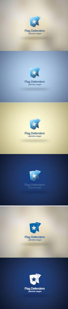 #logo, #graphic design, #flag, #shield, #web, #design Flag Defenders logo template. Just visit our portfolio.