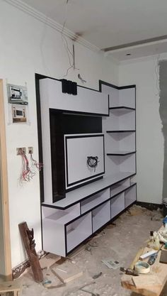 Lcd unit design karan jangid Pooja Room Design, Lcd Panel Design, Bedroom Cupboard Designs, Wall Cupboard Designs, Lcd Unit Design, Tv Room Design, Cupboard Design, Lcd Wall Design, Living Room Tv Unit Designs