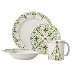 Winter Cardinal Round 16 piece Dinnerware Set, cutest and most ...