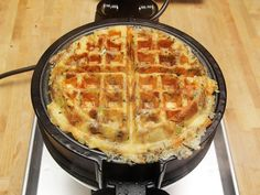 Stuffing waffles! It makes you want to make stuffing all year round and eat it with everything. #Thanksgiving #cooking
