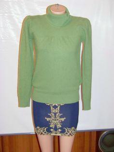 Светло-зеленый шерстяной женский гольф (Benetton)