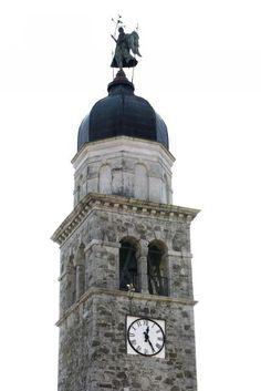 Campanile della chiesa di Santa Giustina vergine e martire in località Pozzo nel comune di Codroipo (UD) [Sirpac - Scheda 4003]