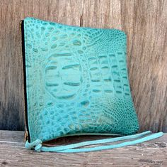 Tiffany Blue Leather Pouch