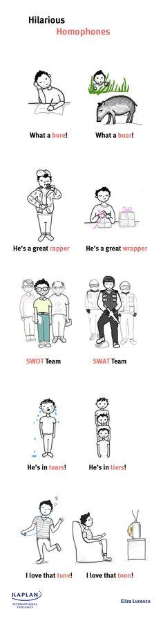 Homophones Illustration English Lesson | Kaplan Blog