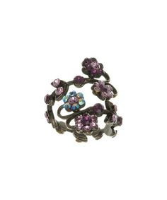 Another great find on #zulily! Purple Czech Crystal Floral Ring by Merx #zulilyfinds
