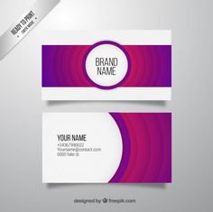 Abstract purple business card Free Vector