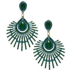 river island peacock jewel drop earring