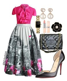 Untitled #87 by justina-mcfashionista on Polyvore featuring polyvore fashion style Chicwish Christian Louboutin Chanel Liz Claiborne Samira 13 clothing