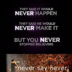 Beliebers never stopped believing. And if they are true beliebers, they never will.
