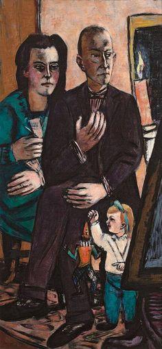 Max Beckmann - Portrait of the Lütjens Family, 1944 - Museum Boijmans van Beuningen, Rotterdam