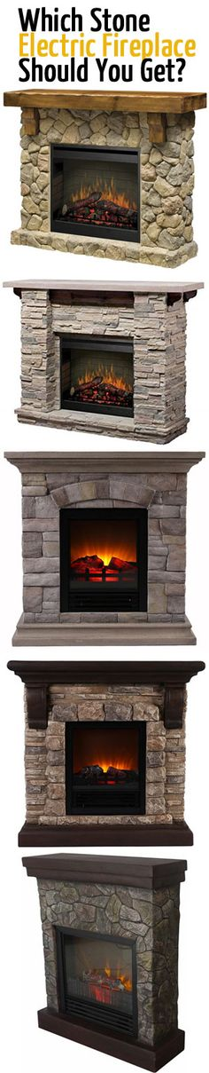 The Top 5 Electric Fireplaces with Stone Mantels from $250 - $1350. Get Life-Like Flickering Flames, Rustic Stone and Wood Mantels Plus Heat...