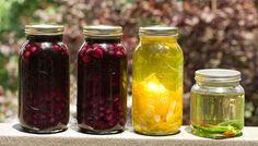 House infused spirits, including pecan bourbon, blueberry bourbon and lemon vodka. #sundayfunday