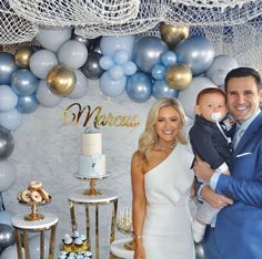 Our baby Marcus' Christening and First Birthday celebrations 💙 Baby Shower Balloons, Baby Shower Themes, Baby Boy Shower, Baby Shower Decorations, Baby Boy 1st Birthday Party, Baptism Party, Baby Party, Balloon Birthday, Christening Balloons
