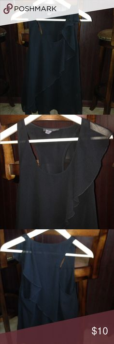 Anama' Night Blouse Super cute black formal top by Anama Night. Worn 1 night- so brand new condition! Very light and see through so you'll need an under shirt😏 Anama Night Tops Blouses