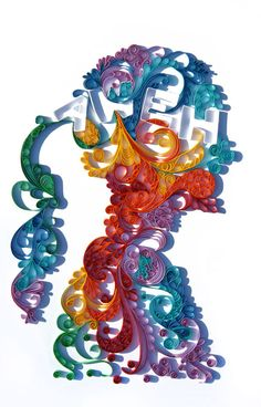 A quilling piece i did for Design Indaba Superstars comp. And was chosen as one of the 11 winners.