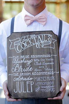 Wedding advice: Tips for planning your wedding bar, and 5 fun cocktail ideas - Wedding Party Wedding Week, Free Wedding, Trendy Wedding, Rustic Wedding, Wedding 2015, Wedding Table, Wedding Foods, Kauai Wedding, Festival Wedding