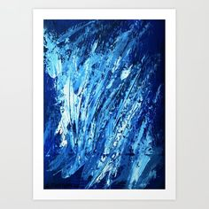 Blue 1 Art Print by Dimitra Papageorgiou - X-Small From The Ground Up, Buy Frames, Unique Art, Printing Process, Waiting, Gallery Wall, Smooth, Walls, Make It Yourself